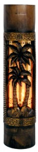 Hand Carved Bamboo Ambient Light - Palm Tree