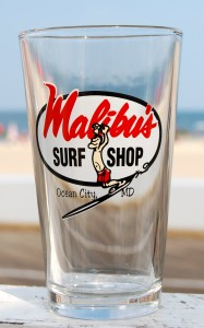 Surfer Guy Pint Glass