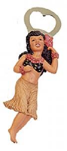 Hula Wahine Hawaiian Bottle Opener