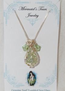 Mermaids Tears Seaglass Necklace Pendant - 4002 Green