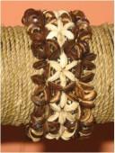 Handmade Coconut Bead Stretch Bracelet