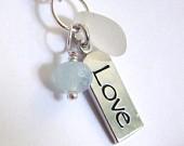 Sea Glass LOVE Necklace-113