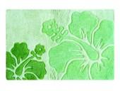 Hibiscus Area Rug - 2-Tone Green