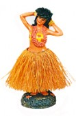 Dashboard Hula Girl Posing