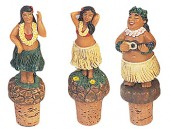 Hula Wine Corks -  Set of 3