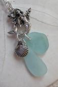 Mermaids Tears Seaglass Necklace Pendant - 4006