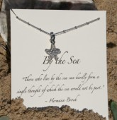 """Starfish - 5/8""""  Sterling Silver Plated Necklace -By Silver Girl"""
