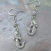 Antique Silver Mermaid Earrings B- By Feifish