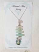 Mermaids Tears Seaglass Necklace Pendant - 1001-4light