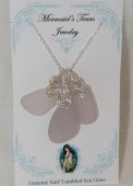 Mermaids Tears Seaglass Necklace Pendant - 1036 Lilac