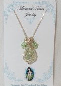 Mermaids Tears Seaglass Necklace Pendant - 4002 Green