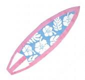 Pink/Blue Floral Print Shortboard Rug