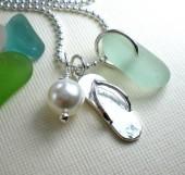 "Sterling silver ""Slippah"" Necklace-102"
