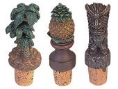 Tropical Wine Corks -  Set of 3