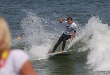 Corey Brown surfing