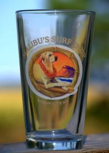 Malibu's Rosie Pint Glass