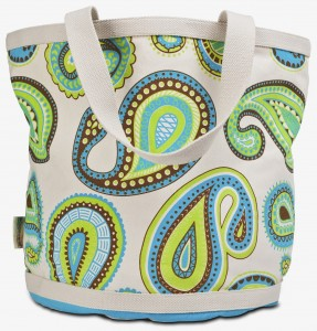 Eco Accents Blue and Green Paisley Biggy Bag