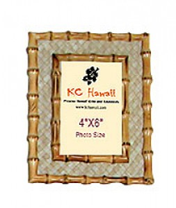 Bamboo with Lauhala Photo Frame
