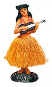 Dashboard Hula Girl with Ukulele