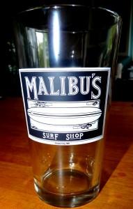 """Malibu's Since 86"""" Pint Glass"""
