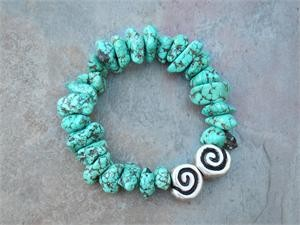 Turquoise Howlite  Bracelet- by Feifish