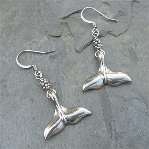 Whale Tail Earrings - By Feifish
