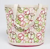 Eco Accents Happy Bottom Peace warm Biggy Bag