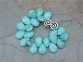 Turquoise Howlite Teardrop Bracelet- by Feifish