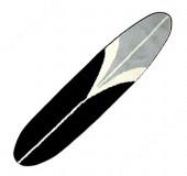 Gray/blk/wht Longboard Rug- #50520