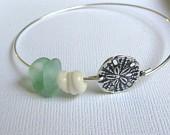 Sand Dollar Beach Bracelet Seaglass-112