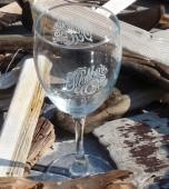 Malibu's Sand Etched Wine Glasses