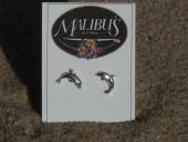Dolphin Sterling Silver Post Earrings