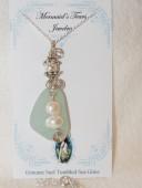 Mermaids Tears Seaglass Necklace Pendant - 1038