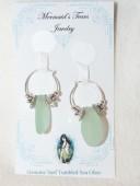 Mermaids Tears Seaglass Earings - 2003 Seafoam