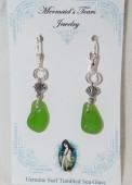 Mermaids Tears Seaglass Earings - 2006 Green
