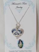 Mermaids Tears Seaglass Necklace Pendant - 4003 blue