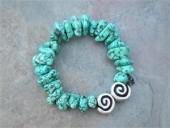 Turquoise Howlite  Bracelet- by Feifish